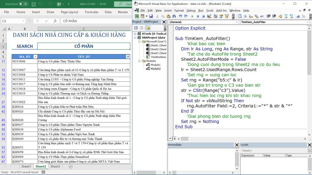 Hướng dẫn cách tạo công cụ tìm kiếm nhanh trong Excel bằng VBA 2