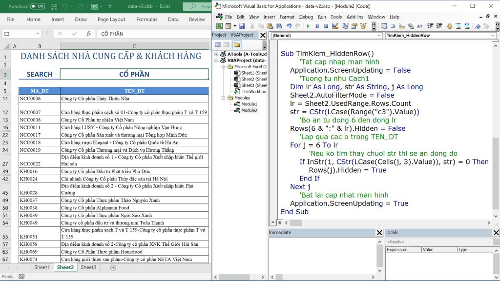 Hướng dẫn cách tạo công cụ tìm kiếm nhanh trong Excel bằng VBA 3