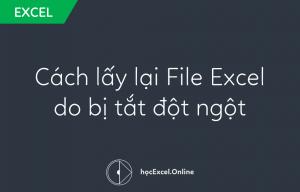 Cách lấy lại file excel bị tắt đọt ngột