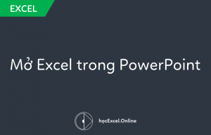 mở excel trong powerpoint
