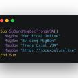 Cách sử dụng msgbox trong Excel VBA