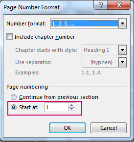 Hướng dẫn đánh số từ trang bất kì trong Word - Học Excel Online Miễn Phí