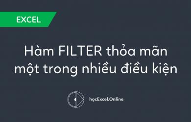 Hướng dẫn sử dụng hàm FILTER trả kết quả thỏa mãn một trong nhiều điều kiện
