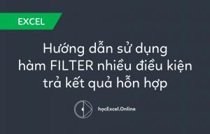 Hướng dẫn sử dụng hàm FILTER nhiều điều kiện trả kết quả hỗn hợp
