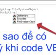 Làm sao để bật gợi ý khi code VBA