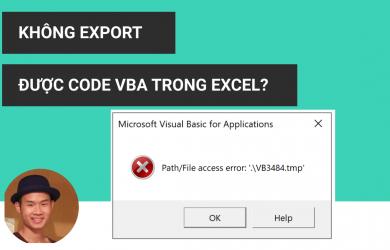 Không export được code vba trong excel