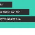 Thủ thuật sắp xếp lại cột kết quả của advanced filter