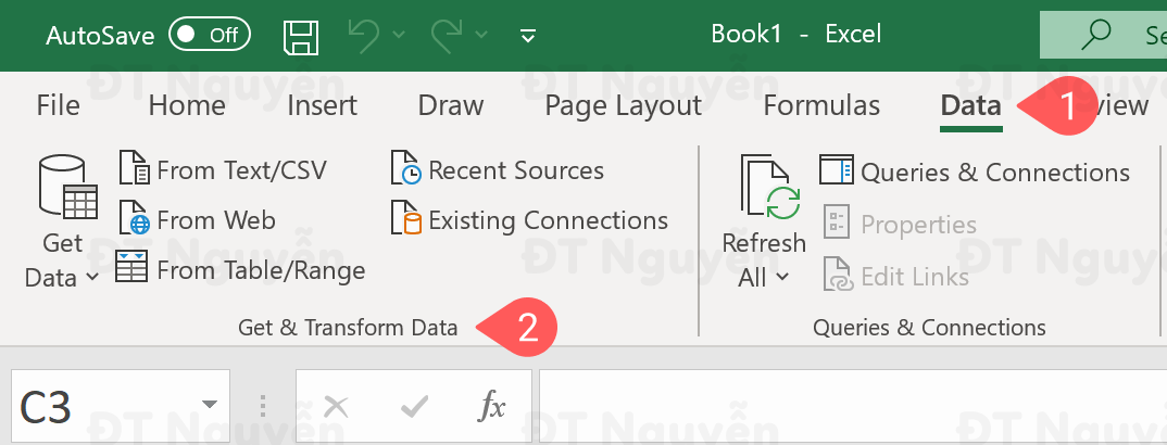 Power Query trong Excel 2016, Excel 2019, Excel 365