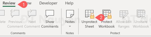 Ẩn công thức trong Excel