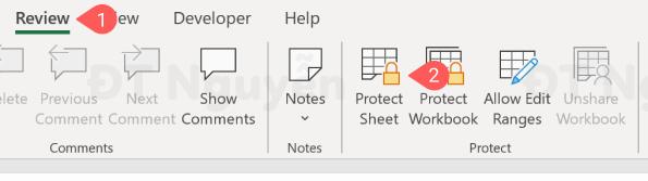 Ẩn công thức trong bảng tính Excel