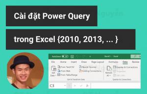 cách cài đặt power query trong excel