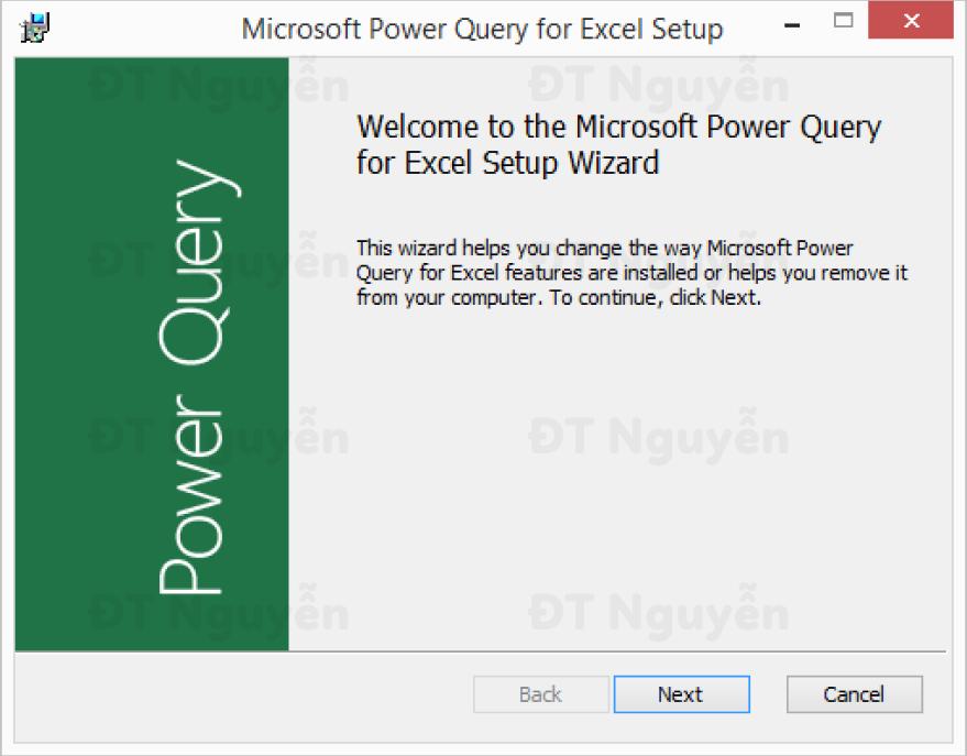 Cách cài đặt Power Query
