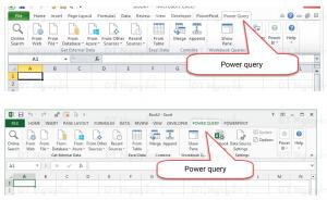 Power Query trên ribbon Excel 2010, Excel 2013