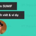 hàm sumif và ví dụ