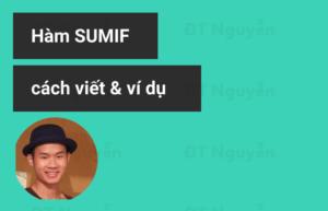 Hàm sumif trong excel và các ví dụ cụ thể