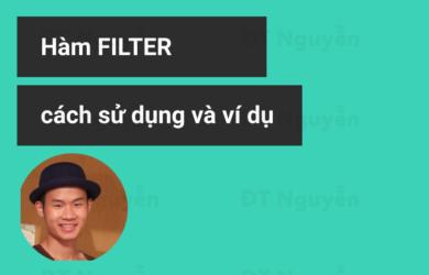 Hàm Filter lọc dữ liệu trong Excel