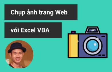 Chụp ảnh trang web với excel vba