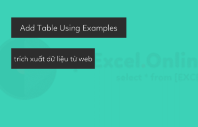 Add Table Using Examples