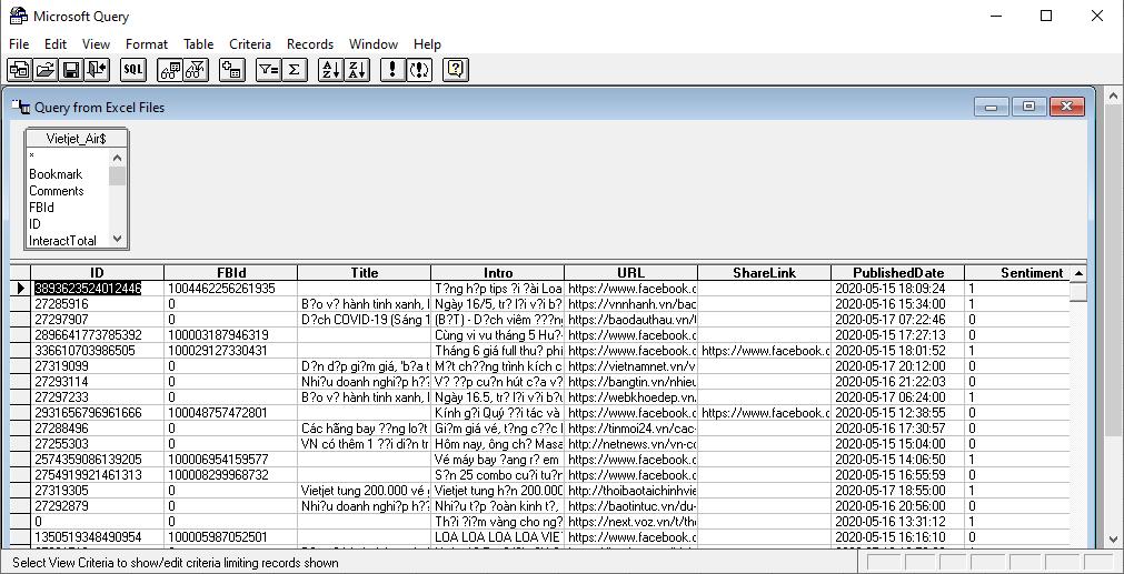 Dữ liệu sau khi chỉnh sửa đã có thể nạp vào bình thường:
