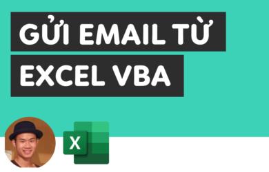Cách gửi email từ excel vba không cần Outlook