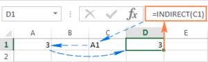 Ví dụ cách sử dụng hàm indirect trong Excel
