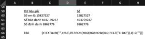 hàm indirect tách số khỏi chữ