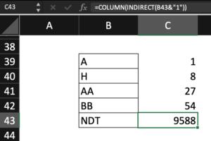 hướng dẫn sử dụng hàm Indirect