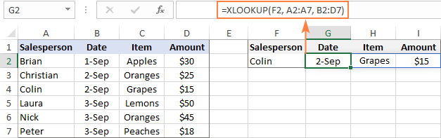 xlookup trả về nhiều dữ liệu