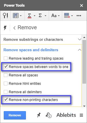 Sử dụng công cụ Remove từ Power Tools