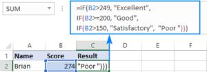 8 Cách dùng hàm IF với nhiều điều kiện trong Excel