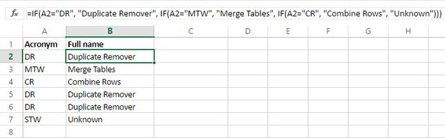 Cách dùng hàm Switch trong Excel 2