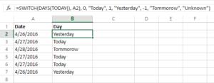 Cách dùng hàm Switch trong Excel 5