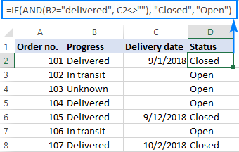 Công thức IF AND trong Excel 2