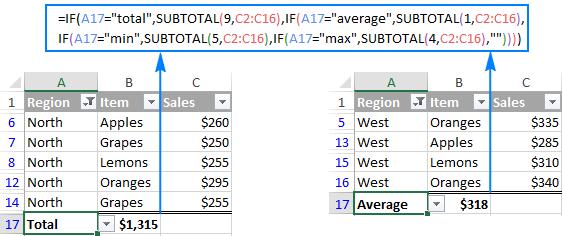 Excel SUBTOTAL 8