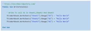 1-Truy cập worksheet