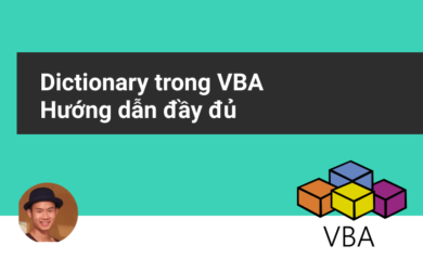 Từ điển trong VBA