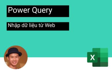 Nhập dữ liệu power query