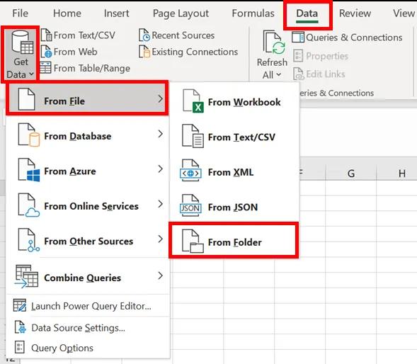 1- Liệt kê tệp dùng power query trong một thư mục và các thuộc tính tệp