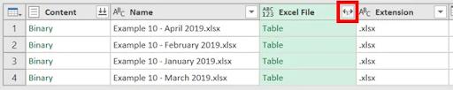 10- Liệt kê tệp dùng power query trong một thư mục và các thuộc tính tệp