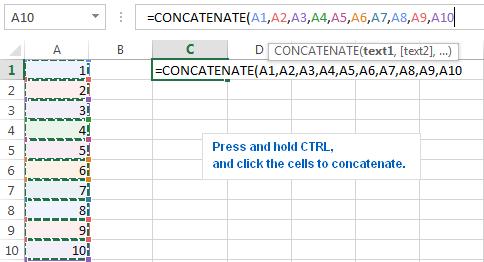 10-CONCATENATE trong Excel: Kết hợp chuỗi