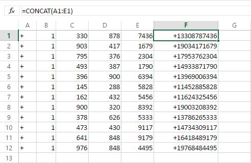 2- Kết nối văn bản trong Excel bằng hàm CONCAT và TEXTJOIN