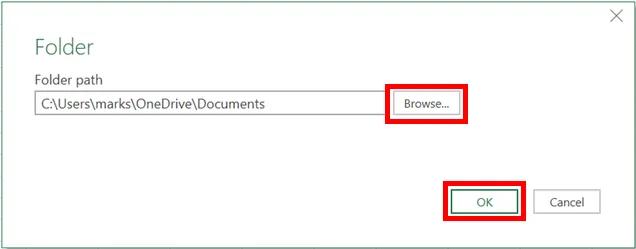 2- Liệt kê tệp dùng power query trong một thư mục và các thuộc tính tệp