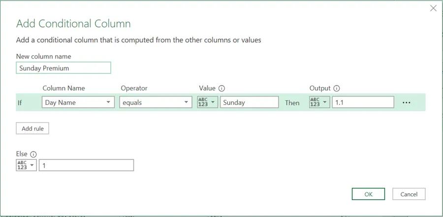 2- Câu lệnh If Power Query cho logic có điều kiện