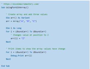 21- VBA for Loop