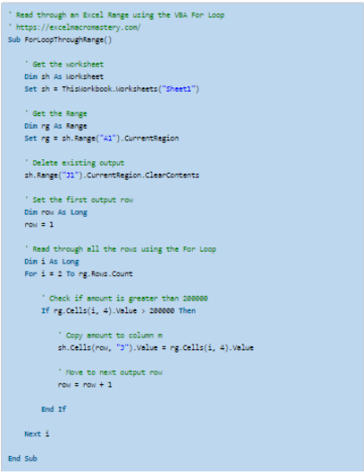 25- VBA for Loop