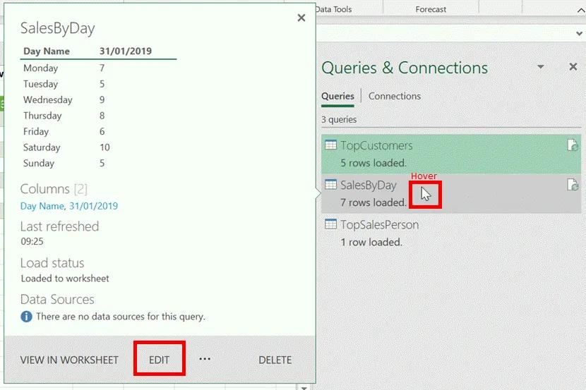 4- power query - chỉnh sửa truy vấn
