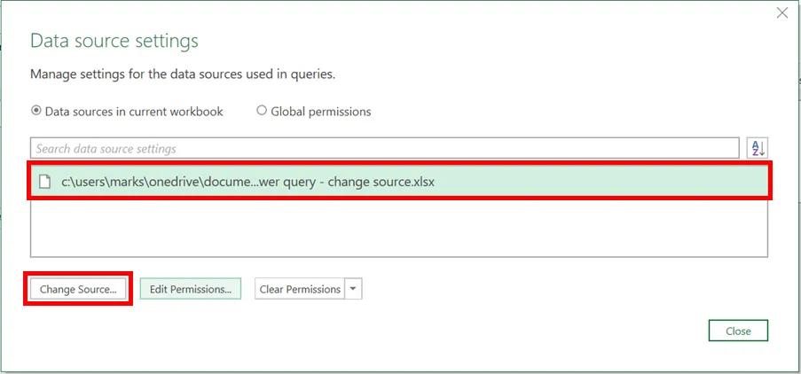 5-power query - thay đổi vị trí dữ liệu nguồn