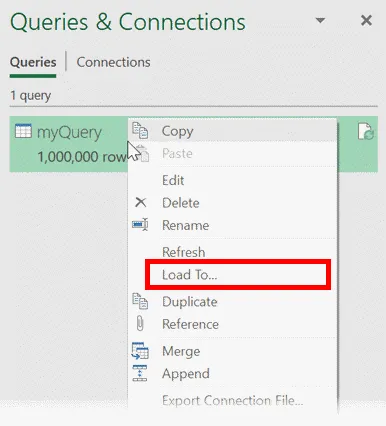 6 -Power Query – Tùy chọn Close & Load