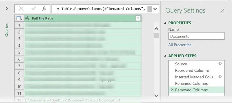 6- Liệt kê tệp dùng power query trong một thư mục và các thuộc tính tệp