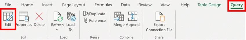 6- power query - chỉnh sửa truy vấn